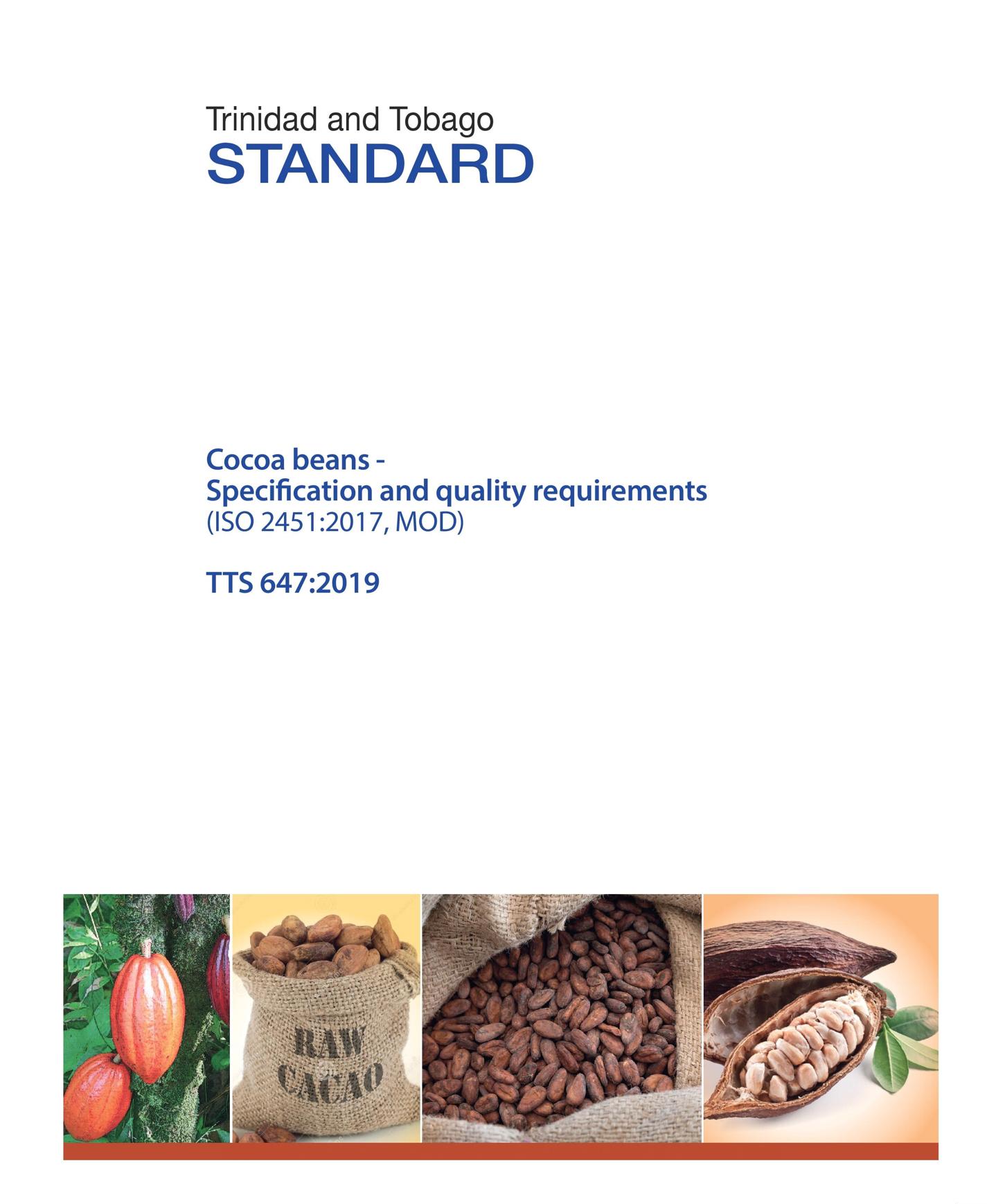 TTS 647:2019, Cocoa Beans